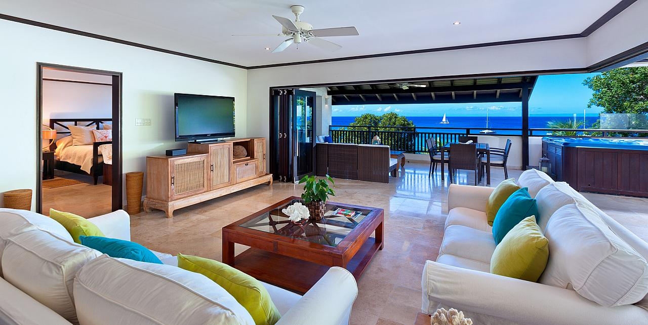 Barbados, Coral Cove 15 Penthouse - Living Area